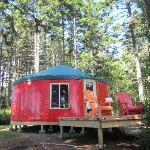 Yurt #3, the Red yurt