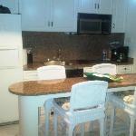 El area de la cocina en la hab