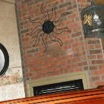 Picture of the Fireplace and the neat sun above. Jenny Wade Room. Notice the orb.
