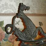 Dragon on the top of a neat lamp. Jenny Wade Room