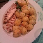 Grilled fish with baby potatoes