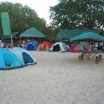 you see our tents....