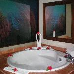 The large bathtub in our Deluxe Suite