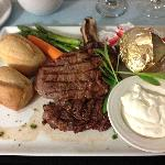 Room Service Steak Dinner