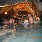 The swim-up bar live in action.