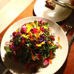 beautiful salad with lots of flowers!