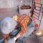 tadelakt sur poterie de terre cuite