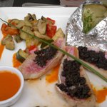 rouget filets with tapenade