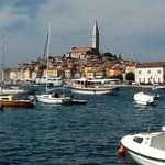 pic taken fromour table towards Old town Rovinj