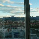 Bergame : la ville haute au loin