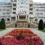Main façade of Imperial Hotel in Karlovy Vary
