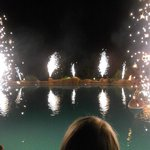 Fireworks at pool party