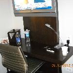 Very small desk, just enouph room for laptop - Four Star?? Not!