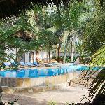 Vista piscina dal ristorante di Villa Dida