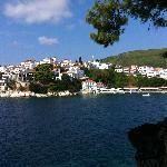 Skiathos Town from Water Taxi