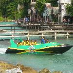 Awesome Jet Boat coming back to Dolphin Cove after tour!!!