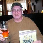 Mike enjoying his beer!
