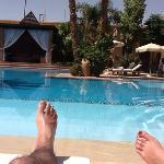 repos bord de piscine