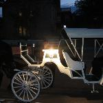 The carriage that brought us back from our anniversary dinner
