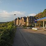 View of the hotel from up the road