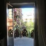 View from room toward balcony