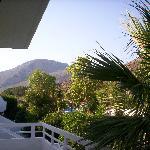 hotel karavos blick auf den berg