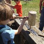 Learning how to make a wooden peg -- No activity ticket required