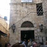 Entrada albergue de los franciscanos