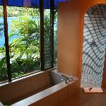 Our bathroom look unto a wonderful garden