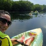 Haciendo un ratito de Kayak