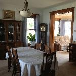This is the dining area at the Castle and it can be used for meetings or just sitting around tal