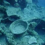Underwater scene on a dive