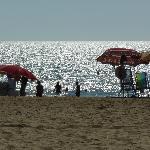 The beach, a few minutes walk.