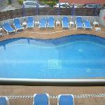 vista piscina desde el ascensor