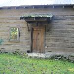 Back door of The Cabin