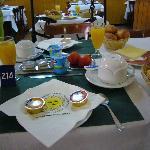 nuestro desayuno! y es un 1* !