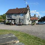 The pub viewed from the outdoor seating