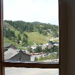 The Resort and Village - you can see skiers in the Winter