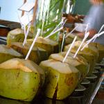 Fresh coconut water every morning.