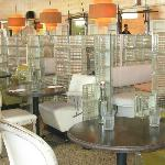 tables made from the original salon seats
