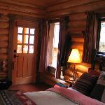 Den hyggelig hytte indefra