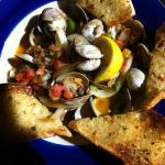pan roasted clams with chorizo