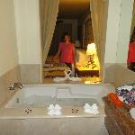 Romantic turndown & bubble bath