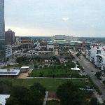 View of the park and downtown Houston