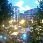 Plaza Santa Ana desde el balcón del hotel
