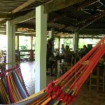 The amazing restaurant, complete with hammocks!