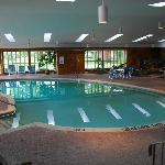 huge goregous indoor pool room deep pool