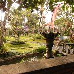 View of Kertiyasa grounds from restaurant