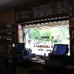Beer List looking out to patio