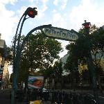 Una delle fermate della metro nelle vicinanze dell'hotel (Boissiere)